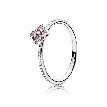 Oriental Blossom Ring, Pink CZ 191001PCZ
