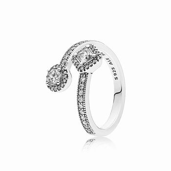 Pandora Abstract Elegance Ring, Clear CZ 191031CZ