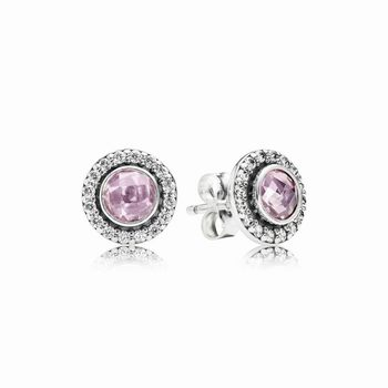 Pandora Brilliant Legacy Stud Earrings, Pink & Clear CZ 290553PC