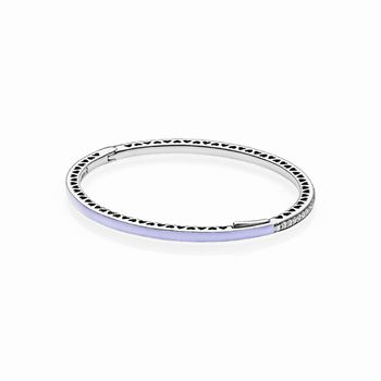 Pandora Purple Radiant Hearts of PANDORA Bangle 590537EN66