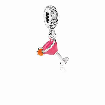 Pandora Fruity Cocktail Dangle Charm, Mixed Enamel & Clear CZ 79